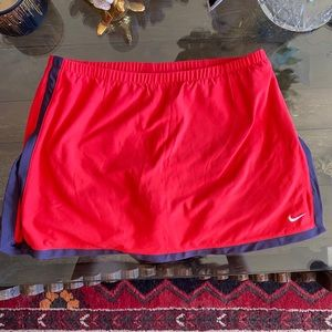 Nike Dry Fit Red Vintage Tennis Skirt Small